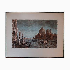 Roland Oudot (1897-1981) - Basilica in Venice, signed lithograph