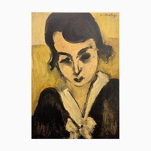 Henri MATISSE (d'après) : Femme au col blanc - Lithographie Signée