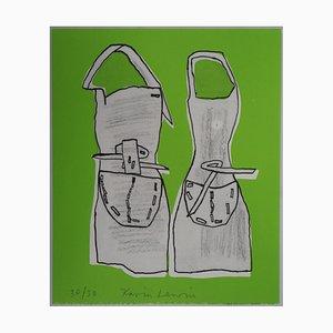 Karin LEWIN : Deux silhouettes - Lithographie Originale Signée