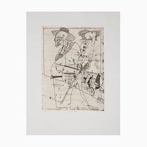 Alexis DE KERMOAL : Le regard oblique - Gravure Originale Signée