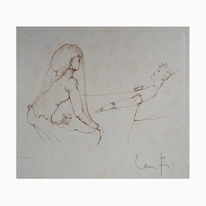 Leonor FINI : A son chevet - Gravure Originale Signée