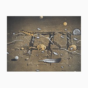 Hiroshi ASADA : Fosse de terre - Gravure Originale Signée