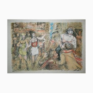 Lucien MORETTI - The streets of Toulon, signed and numbered lithograph