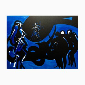 "Raymond Moretti - Lithograph ""Blue Note"" hand signed by the artist"