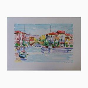 ZLADKU Oliver - Mediterranean Port (Hyères) - Original signed lithograph #125 copies