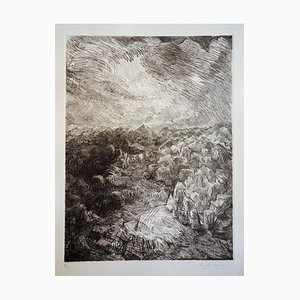 Henry William SINGER: Alpilles - Signierte originale Radierung