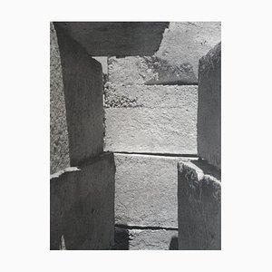 Olivier HOUEX : Mur sur la Méditerranée - Héliogravure originale Signée