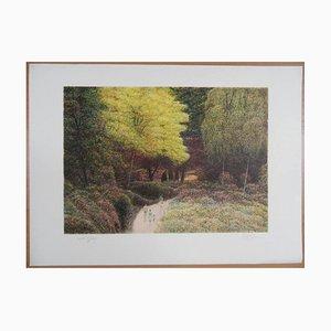 """Harold ALTMAN - """"Automne à Central Park"""", Lithographie originale signée"""