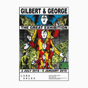Gilbert & George Poster from The Great Exhibition Luma Arles 2018-2019