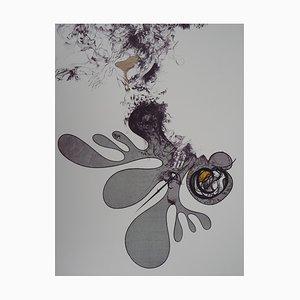 Le Ciel Tombant Lithographi von Raymond Moretti