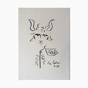 Toréador Couronné Lithograph by Jean Cocteau, 1961