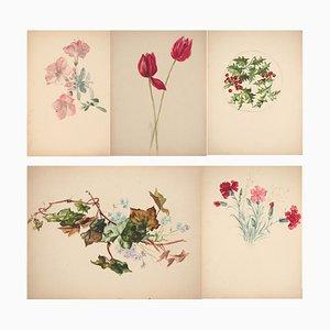 Bouquet Floral Watercolor by Lucien Fontanarosa