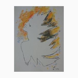 Jean Cocteau - Flamboyant man, original signed lithograph