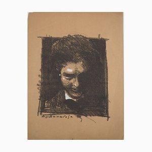 Portrait d'un Homme Sortant du Cadre Lithograph by Lucien Fontanarosa