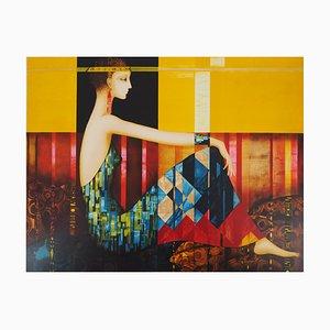 Hommage à Klimt Lithograph by Philippe Augé