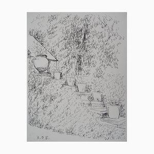 Chemin en Fleurs Radierung von André Dunoyer de Segonzac