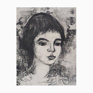 Portrait de Jeune Femme Lithographie von André Minaux