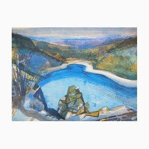 Camille HILAIRE : Lac de la Lauch - Lithographie originale Signée