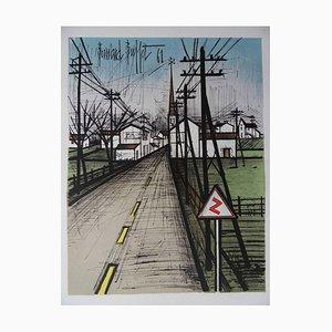 """Bernard BUFFET - """"The road"""" Stone lithograph (MOURLOT)"""