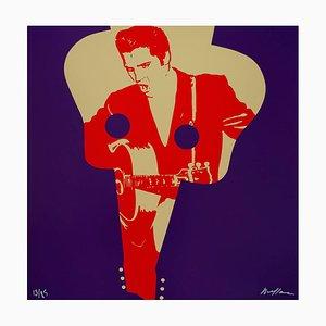 Elvis Presley Siebdruck von Ivan Messac