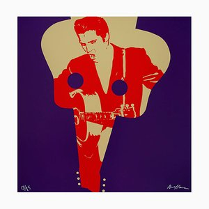Elvis Presley Silkscreen by Ivan Messac