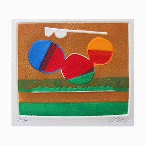 Abstract Composition Radierung von Bertrand Dorny