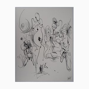 Silhouettes Lithograph by Raymond Moretti
