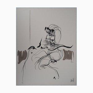 Geste Sensuel Lithografie von Raymond Moretti