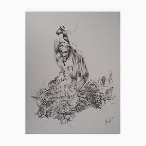 L'élévation de L'homme Lithograph by Raymond Moretti