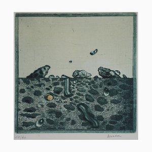 Rochers Verts Engraving by Hiroshi Asada