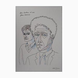 Jean Cocteau and Me Lithograph by Jean Marais