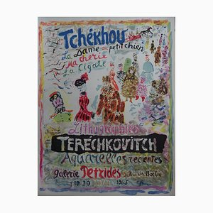 Constantin Terechkovitch - Tchékhov Lithograph by Ben Frost, 1965