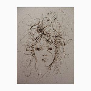 Dishevelled Woman Stich von Léonor Fini, 1970er