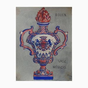 Medici Vase Gouache by Andy Warhol