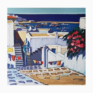Summer In Mykonos Lithograph by Jean-Claude Quilici