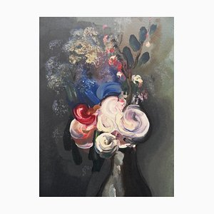 The Bouquet of Roses Engraving by Maurice De Vlaminck