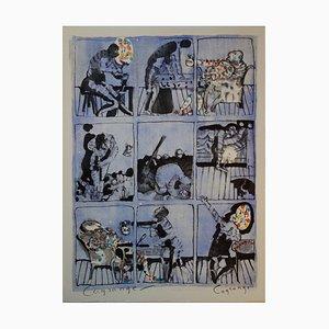 Le Savetier Et Le Financier Lithograph by Jacques Lagrange