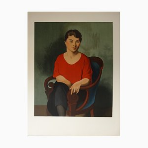 Woman In Red Lithograph by Roger De La Fresnaye