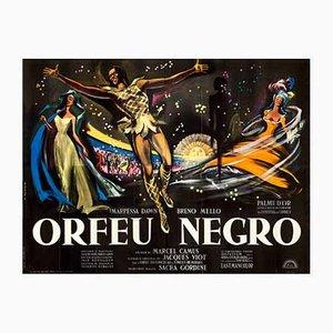 Vintage Black Orpheus Filmplakat von Georges Allard, 1959