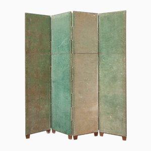 Green Velvet Room Divider, 1950s