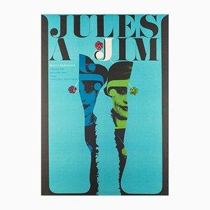Affiche Jules and Jim Vintage par Karel Vaca, 1967