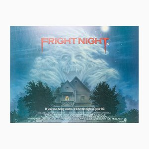 Vintage Fright Night Film Poster by Peter Mueller, 1980s