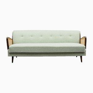 Woven Cane Sofa, 1950s