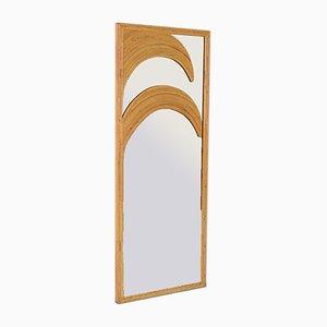 Vintage Spiegel mit Rahmen aus Bambus
