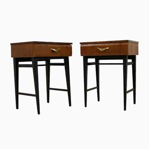 Mid-Century Walnut Nightstands from Meredew, 1960s, Set of 2