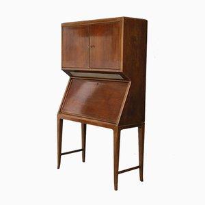 Mueble bar italiano de nogal y madera de arce, años 50