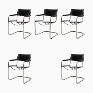 MG5 Armchairs by Matteo Grassi, 1970s, Set of 5