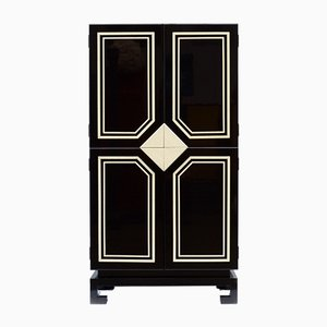 Vintage Black and White Cabinet