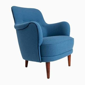 Mid-Century Swedish Model Samsas Armchair by Carl Malmsten for O H Sjogren, 1950s