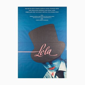Vintage Lola Film Poster by Vratislav Seccik, 1983